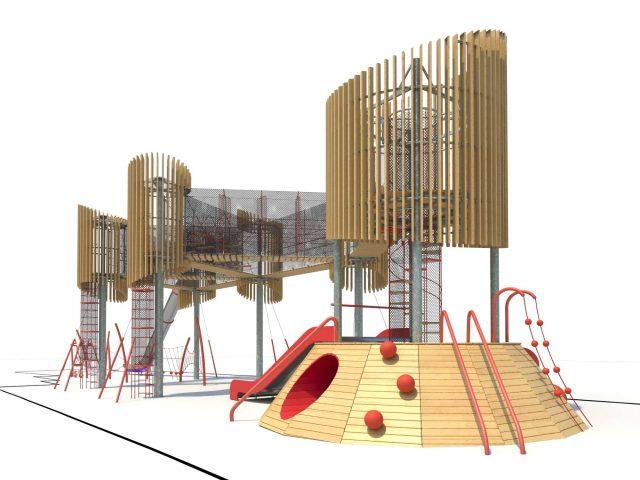 Первая очередь ЖК «Файна Таун» получит самую высокую в Украине детскую площадку