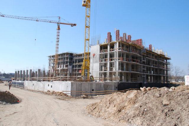 Фото хода строительства «Файна Таун» - апрель 2019 года