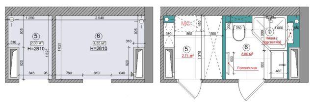 Планировка санузлов при ремонте в новостройке