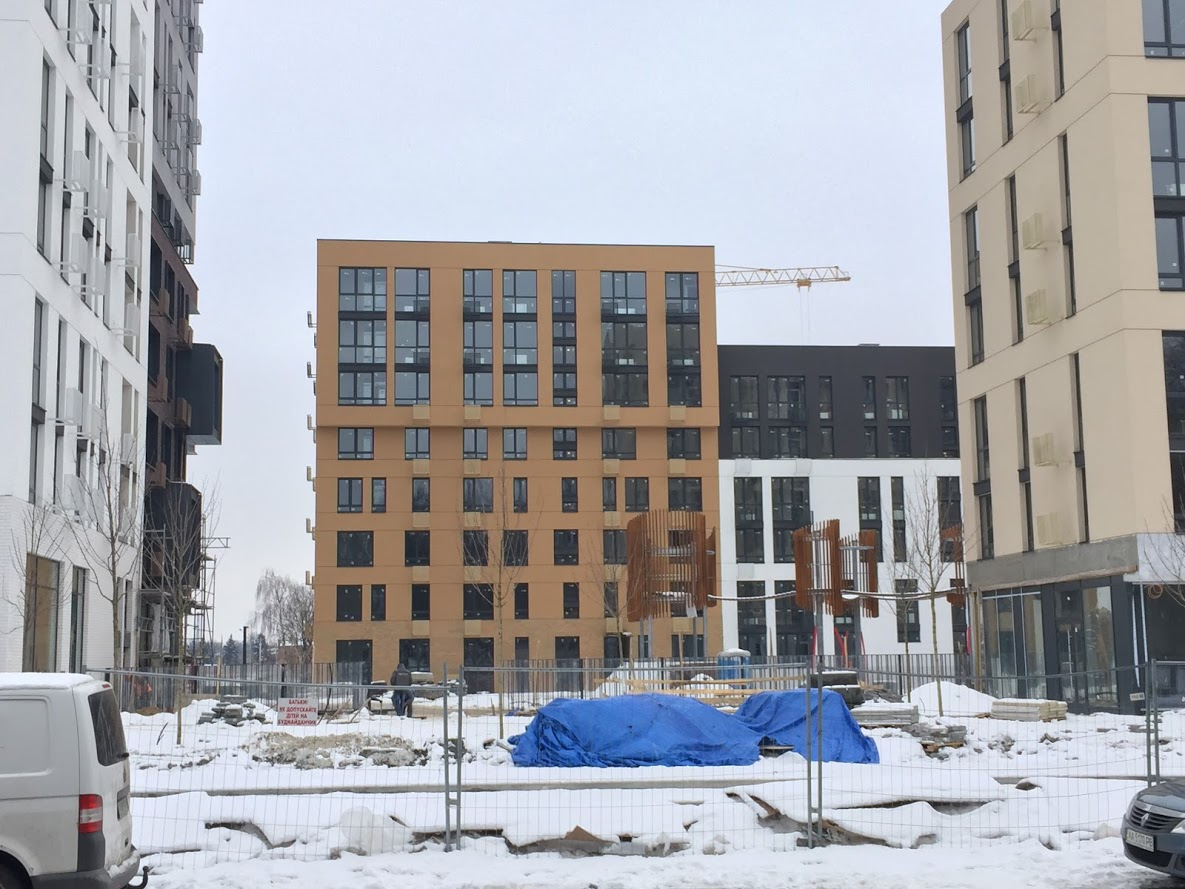Файна Таун фото строительства февраль