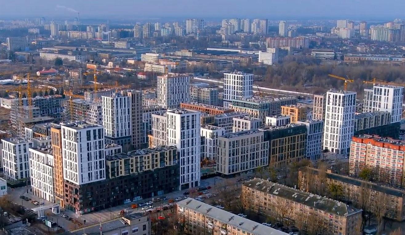Ход строительства «Файна Таун»: март 2021 года