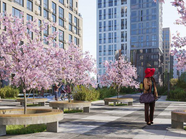 «Файна Таун» – видео благоустройства первой очереди жилого комплекса