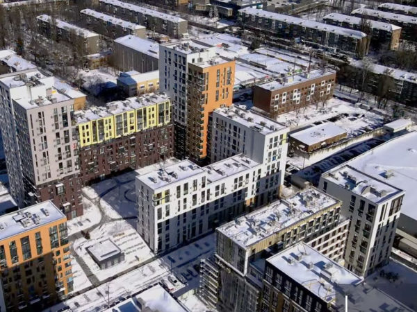 Ход строительства «Файна Таун»: февраль 2021 года