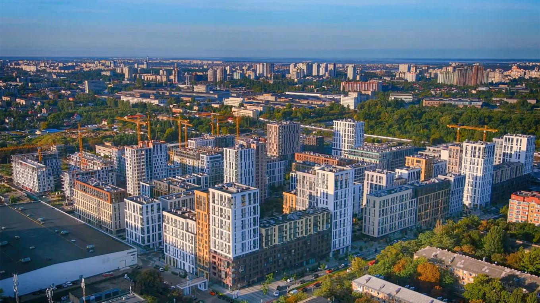 Ход строительства «Файна Таун»: сентябрь 2021 года
