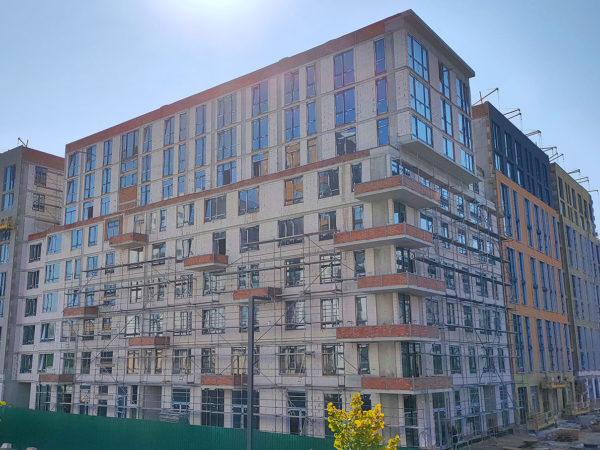 Ход строительства «Файна Таун»: сентябрь 2020 года